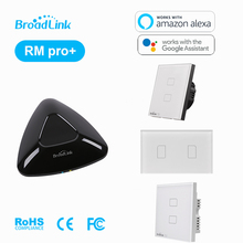 Broadlink RM PRO Universal Intelligent Remote Controller WIFI+ IR+ RF+ 2 Gang ON/OFF Touch Screen Light switch Via IOS Android стоимость