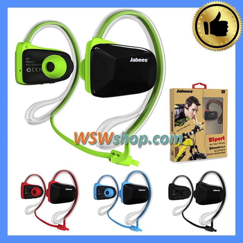 ФОТО 100% Original Jabees Bsport Wireless Bluetooth Earhook In-Ear Earphone Headset Bluetooth Headphone V4.1 + CSR Voice Prompt