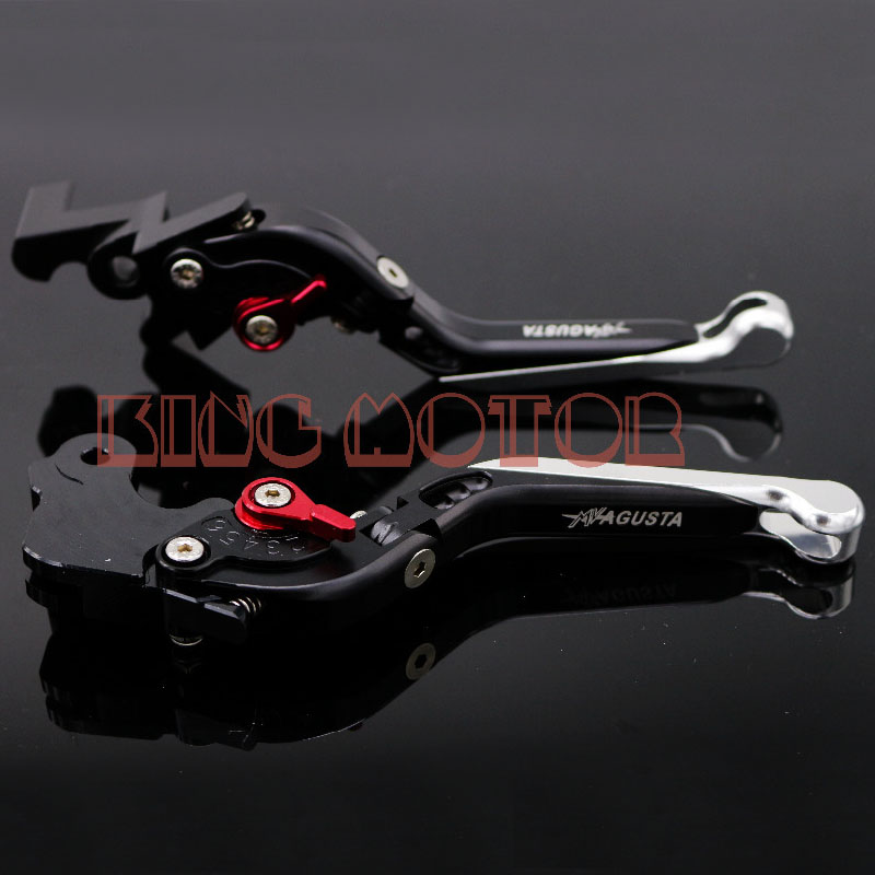 ФОТО For MV AGUSTA Brutale 675 800 Motorcycle Accessories Adjustable Folding Extendable Brake Clutch Levers Black+Silver