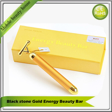 24K Golden Energy Beauty Bar Micro Current Vibration Face Forehead Eye Wrinkle Remove Skin Firming Facial Tonning Beauty Device