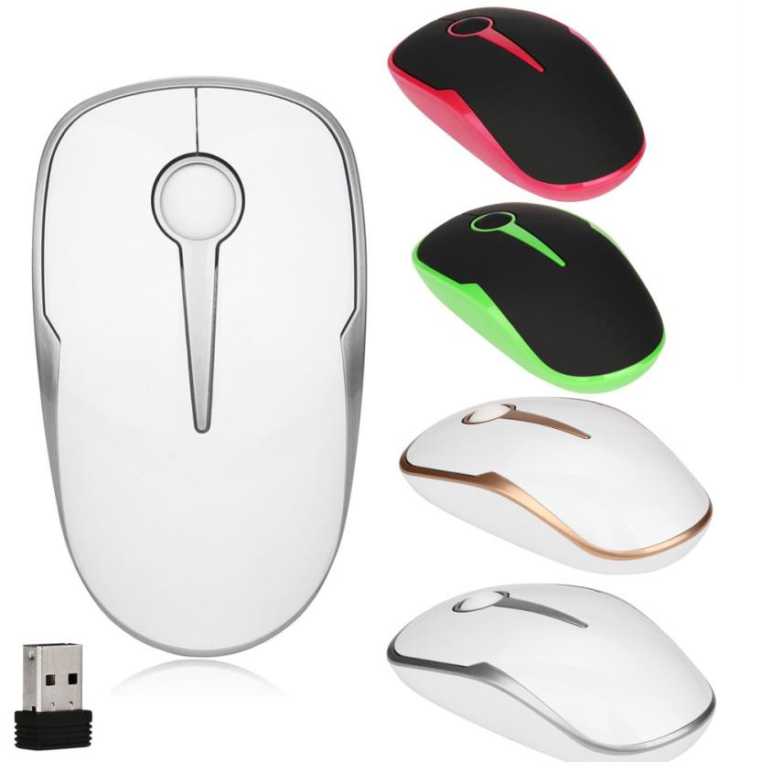 overmal New 2.4Ghz Wireless Usb Optional Mouse 1600 DPI Mice LED For Laptop/Desktop/PC best Gift low power comfortable grip
