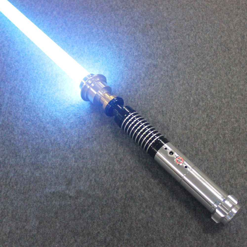 Sable de luz jedis Sith Luke juguete sonido negro serie Skywalker sable de luz recargable Color cambio sonido mango de Metal espada
