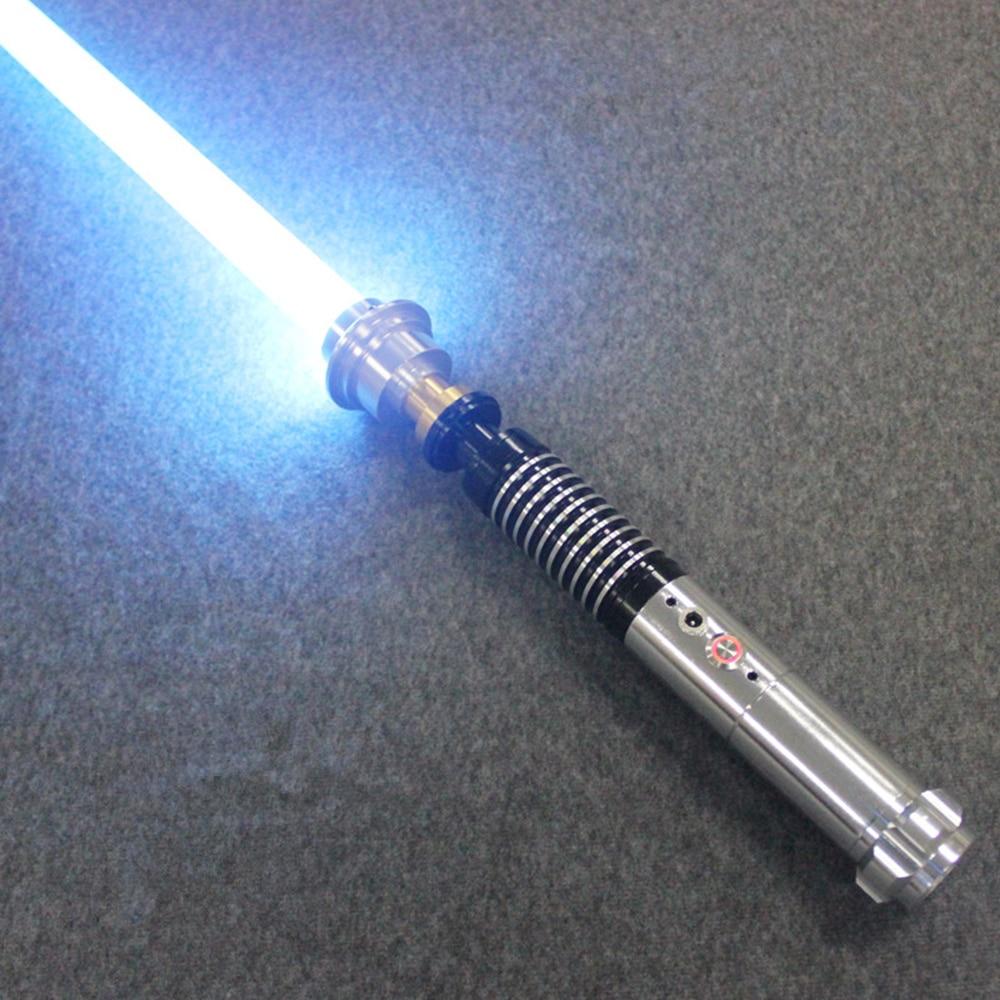 Sabre laser Jedi Sith Luke jouet son noir série Skywalker sabre laser Rechargeable couleur changeante son métal poignée épée