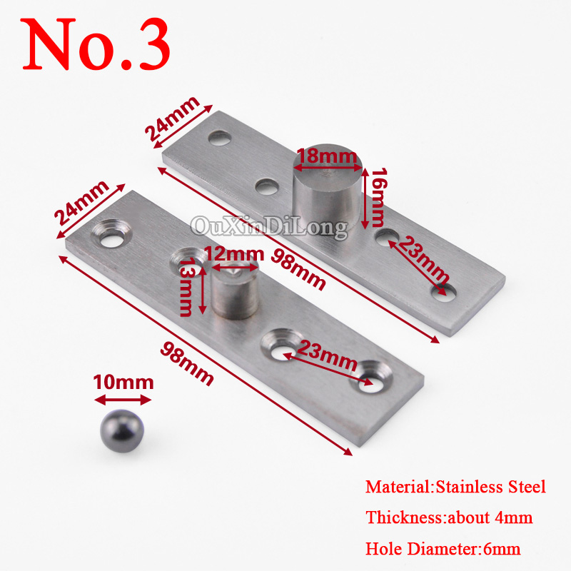 98mm Length Stainless Steel 360 Degree Rotating Door Pivot Hinge Rotary