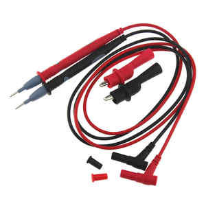 Image 1 - 1 çift 10A/20A Ampermetre Test Kablosu Multimetre Çok Metre Voltmetre Kurşun Probe Tel Kalem C Kalem Hattı ile timsah Klip