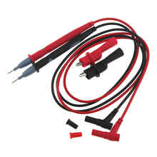 1 par 10 a/20 a amperímetro Cable de prueba multímetro voltímetro Sonda de plomo cable pluma C Línea de lápiz con pinza de cocodrilo
