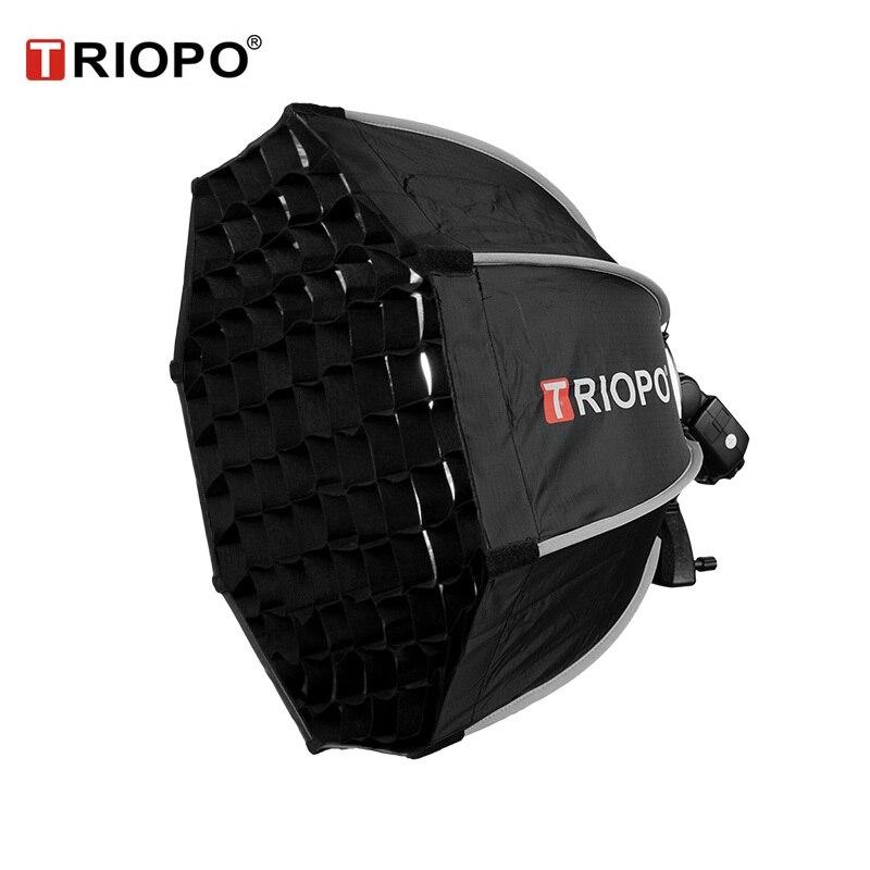 TRIOPO 55cm Octagon paraguas Softbox con rejilla de panal para Godox Flash speedlite fotografía estudio accesorios soft Box