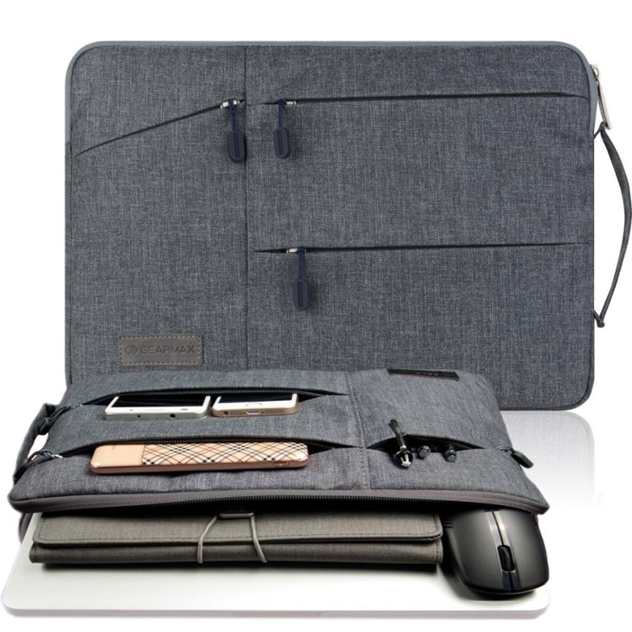 Gearmax Laptop Bag Case for MacBook Air Pro 11.6 12 13.3 15.4 Waterproof Notebook Bag for Dell 15.6 Inch Case Laptop Sleeve 15.6