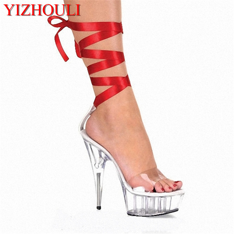 The new banquet runway 15 cm hollow out sandals high heel sandals Thick bottom waterproof TaiwanThe new banquet runway 15 cm hollow out sandals high heel sandals Thick bottom waterproof Taiwan