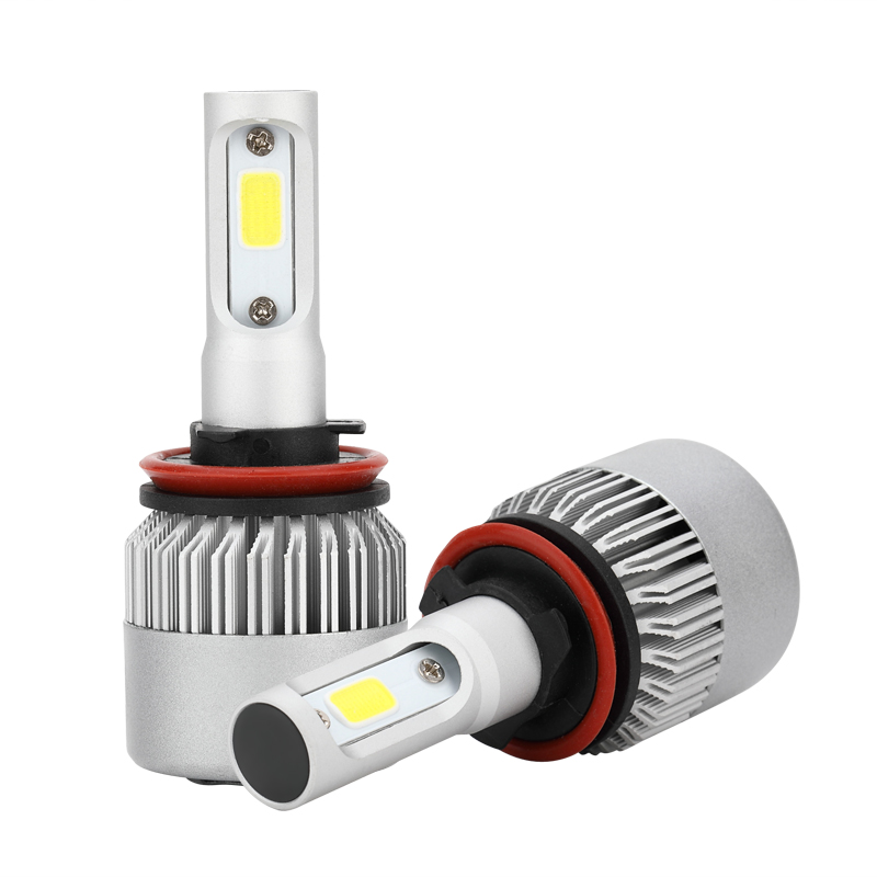 Car LED Headlights Bulb S2 H4 H7 H11 H1 9005 9006 H3 COB LED Headlight 72W 8000LM Waterproof  Fog Light 6500K 12V 1 pair car headlight bulb kit 12v 50w automobile headlamp zes lumileds led chip auto head light fog lamp 9005 9006 h11 h4 h7 h1