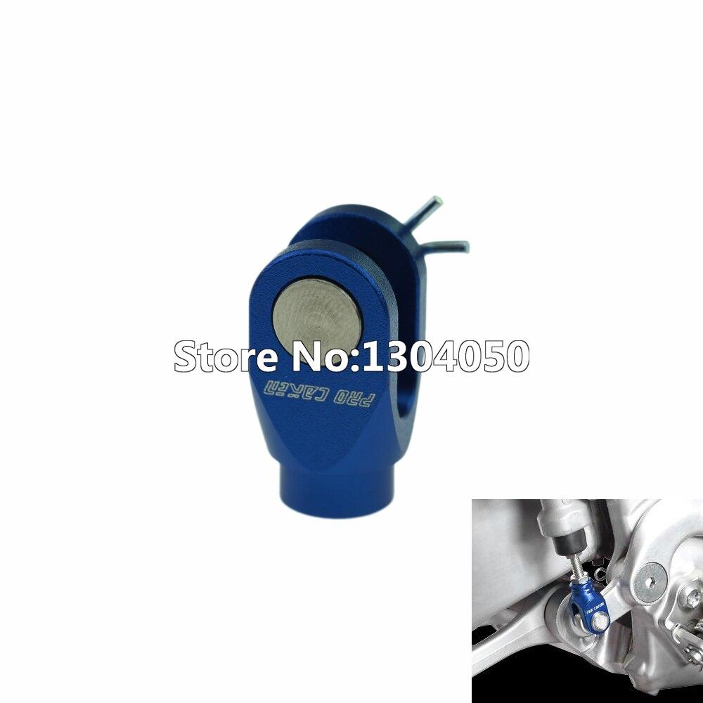Pro Caken Blue Billet CNC Aluminum Rear Brake Clevis For YZ125 250 YZ250F YZ450F YZ250X YZ250FX 2003-2016
