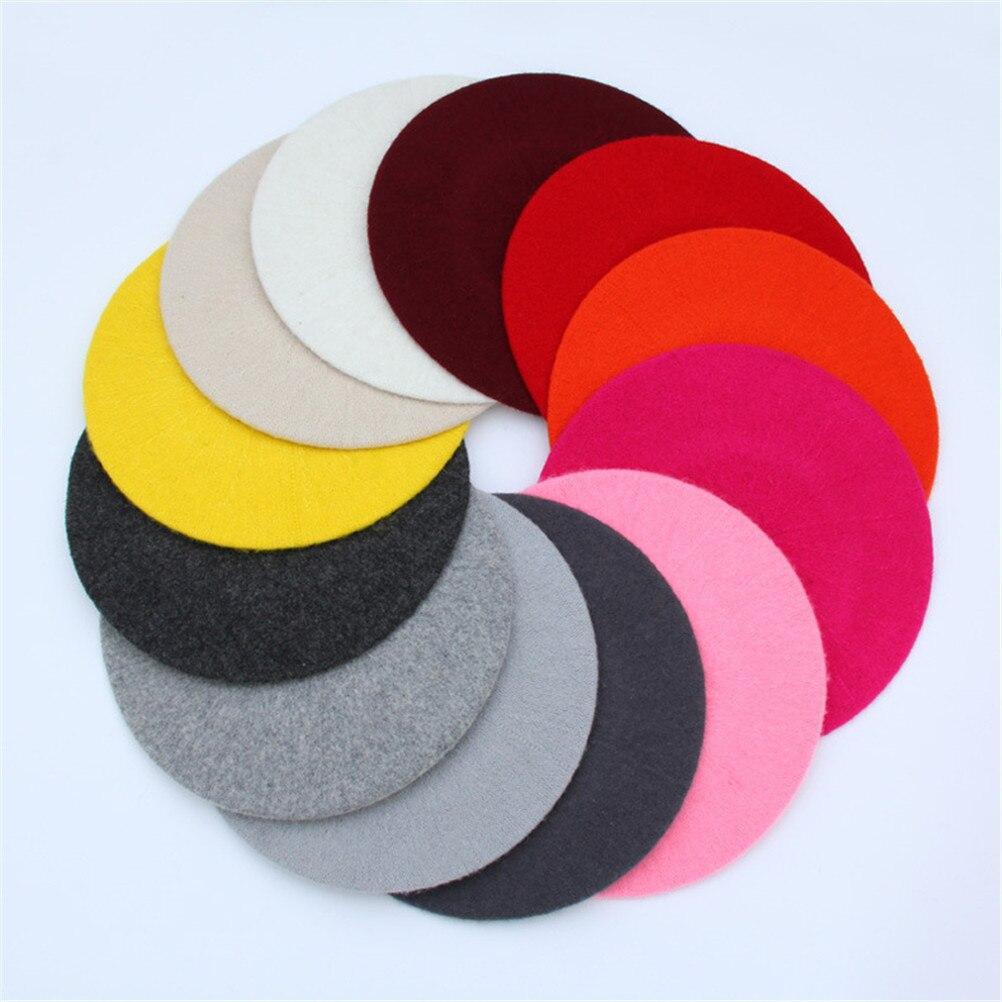 10 Farbe Frauen Wolle Einfarbig Baskenmütze Weibliche Winter Alle Abgestimmt Warm Wandern Hut