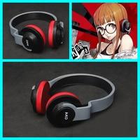 P5 Persona 5 Cosplay Props Futaba Sakura Cosplay Costume Accessories PVC Headphone Headwear Toy Headset