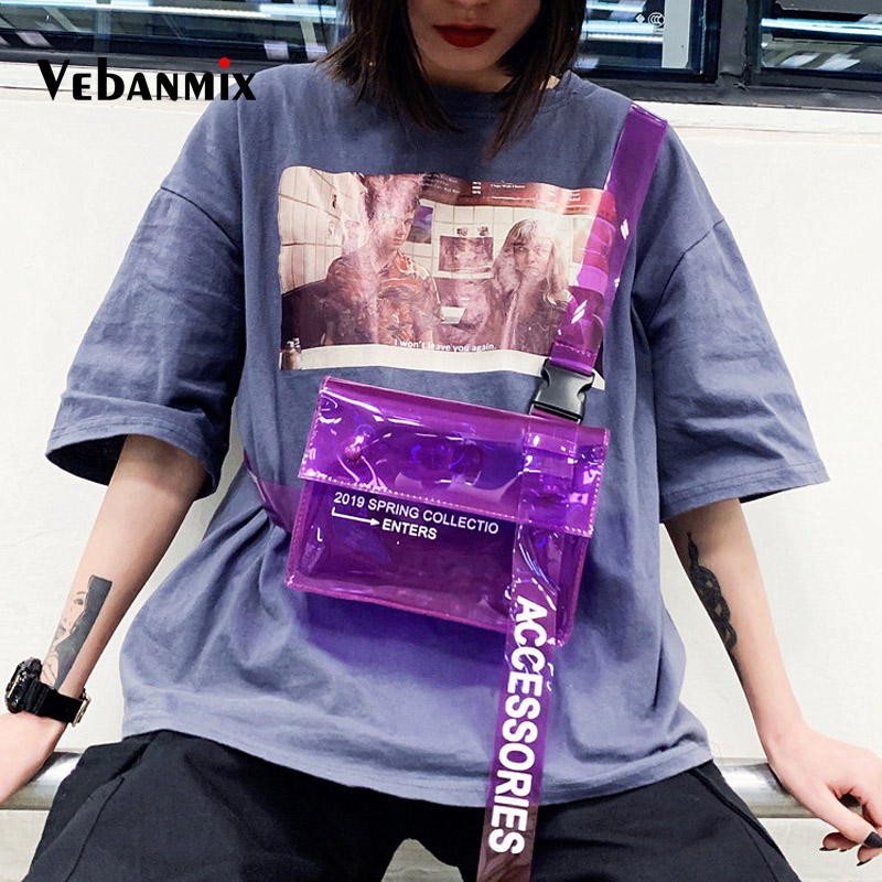 Summer Clear PVC Transparent Fanny Pack For Women Waist Bag Travel Phone Belt Bag Pouch Female Beach Chest Bag Travel Waist Pack