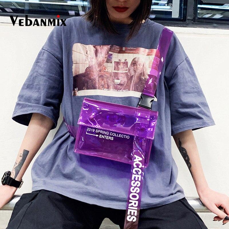 Summer Clear PVC Transparent Fanny Pack For Women Waist Bag Travel Phone Belt Bag Pouch Female Beach Chest Bag Travel Waist Pack