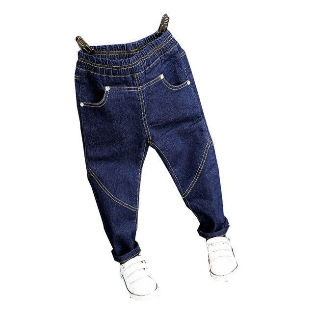 a8fbd7ae259 Newest Baby Girls Boys Thick Winter Long Denim Pants Children Clothes Kids  Jeans Soild Blue Korean Style