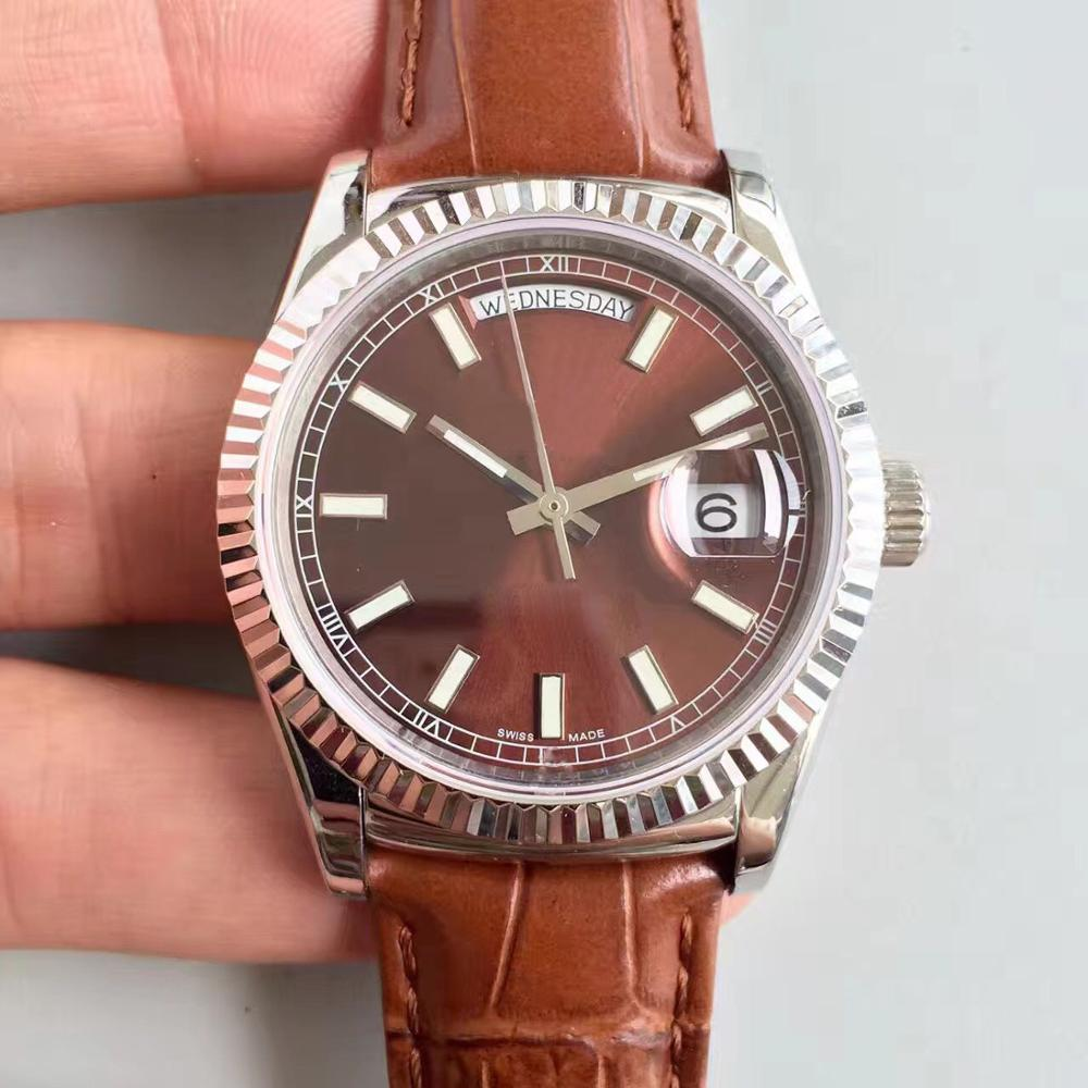 2019 hot AAA high quality luxury brand mens watch Date day118138-L (FC) series 36MM brown dial 2813 automatic movement watch2019 hot AAA high quality luxury brand mens watch Date day118138-L (FC) series 36MM brown dial 2813 automatic movement watch
