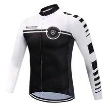 Мужская футболка с длинным рукавом для езды на велосипеде, белая, черная, не впитывает пот, быстросохнущая, велосипедная форма для верховой езды, Подгонянная/