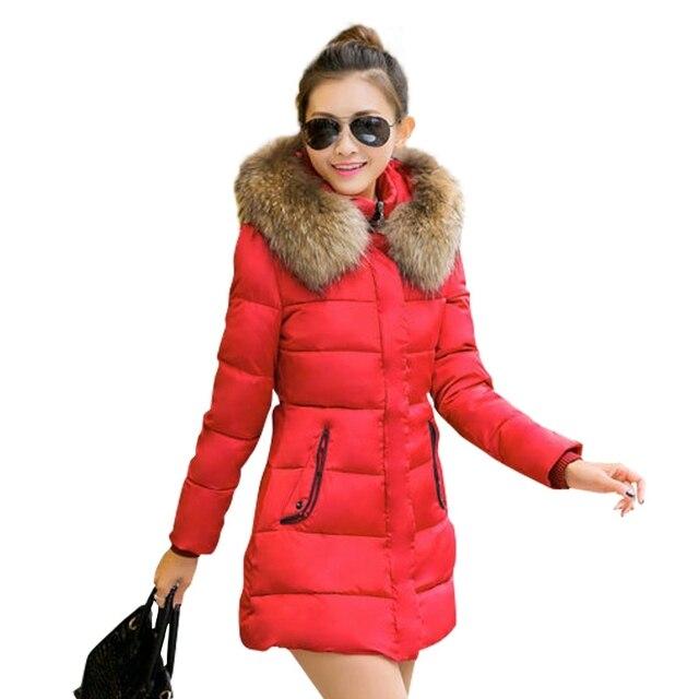 Manteau femme mujeres chaqueta de invierno parka abrigo de piel para mujer chaquetas y abrigos con capucha abrigos y chaquetas mujer invierno 2015 parkas