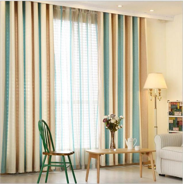 Red White Blue Stripe Luxury Blackout Window Curtains For Living Room Bedding Decorative D Cortinas
