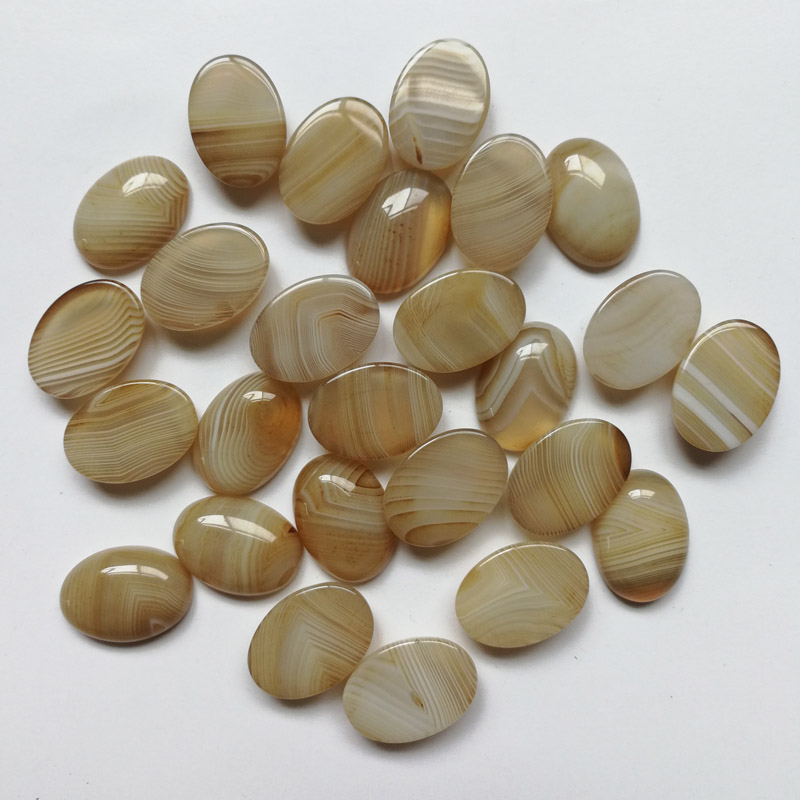 Wholesale Striped Onyx Nature Stone Beads for jewelry making Fashion accessories cab Cabochon 13x18MM 20Pcs/lot Free shipping