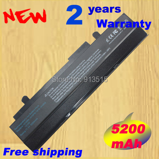 5200mAH Black Laptop battery For Asus Eee PC VX6 1011 1015 1015P 1015PE 1016 1215N 1215B A31-1015 A32-1015 AL31-1015 PL32-1015