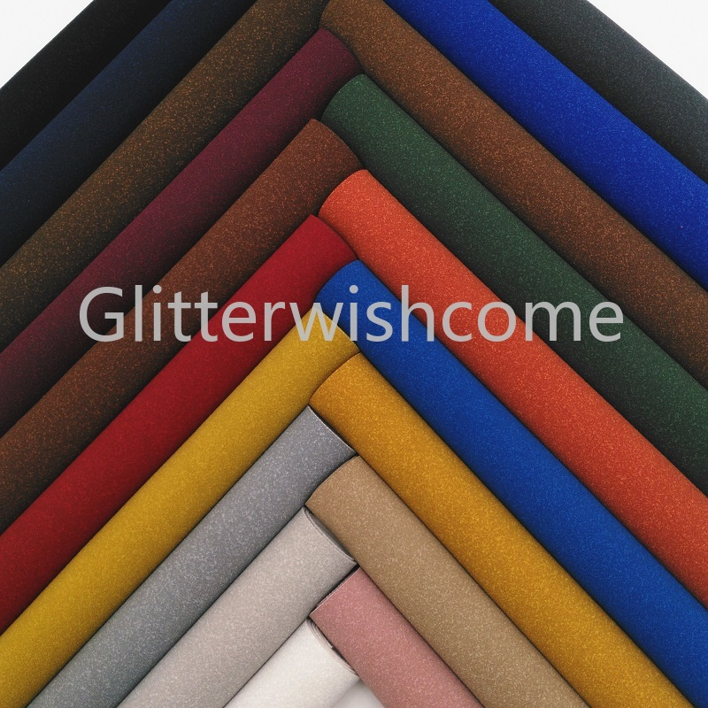 Glitterwishcome 21X29CM A4 Size Vinyl For Bows Suede Leather Fabirc Faux Leather Sheets For Bows, GM382A
