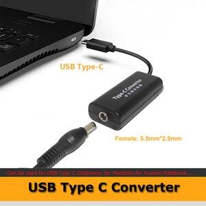 Адаптер питания постоянного тока, конвертер 5,5*2,1 мм гнездо к USB Type C Jack конвертер для Lenovo Dell Hp Asus ноутбук зарядное устройство 45 Вт
