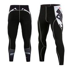 Мужские компрессионные штаны с 3D принтом волка, черепа, обтягивающие леггинсы, колготки для велоспорта, штаны для фитнеса, бегунов, эластичные штаны для бодибилдинга