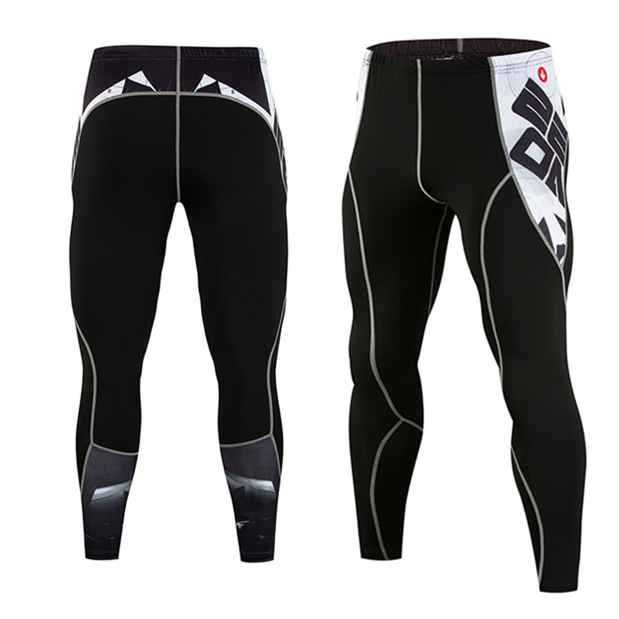 Men's Compression Pants 3D Print Wolf Skull Skinny Leggings Cycling Tights Pants Fitness Joggers Elastic Bodybuilding Pants|Cycling Tights| |  - title=