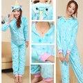 Blue Unicorn Onesies Adult Jumpsuits Animal Cosplay Pyjama