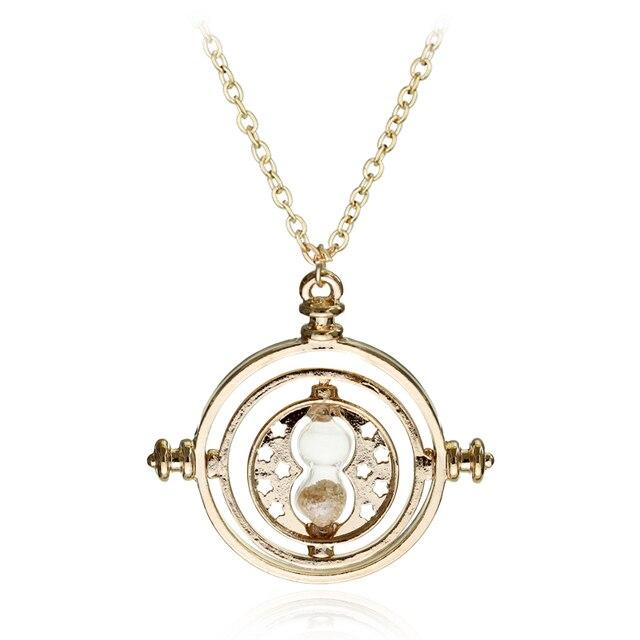 Mały rozmiar czas Turner Potter naszyjnik klepsydra Vintage wisiorek hermiona Granger dla kobiet lady girl wholesale
