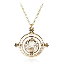 Small Size Time Turner Potter Necklace Hourglass Vintage Pendant Hermione Granger for women lady girl wholesale