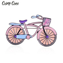 Cring CoCo Trendy Bicycle Enamel Brooches For Men Womens Classic Weddings Party Banquet Brooch Accessories