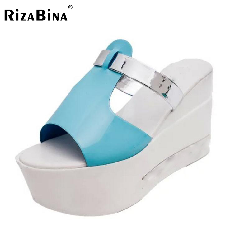 Female Wedges Sandals Women Platform Peep Toe  Slippers Patchwork High Wedge Shoe Sexy Summer Beach Vacation Footwear Size 35-39 slip resistant summer sandals female drag platform female beach slippers flatbottomed women s slippers