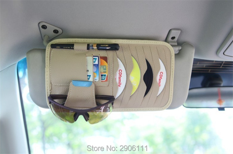 Disc Storage CD DVD eneral Car Sun Visor/card holder for Mini cooper jcw clubman countryman cabrio paceman coupe Car styling