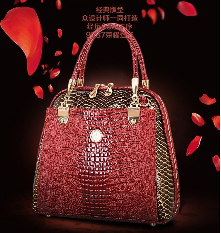 4112419d309 Women Handbag Patent Leather Crossbody Bags Brand Tote Fashion Women  Messenger Bags Clutch Shoulder Bag Bolsas Q0-in Top-Handle Bags from  Luggage & Bags