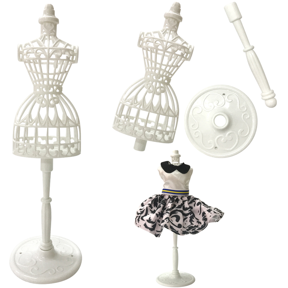 NK 2 Pcs/Set Doll Accessories Display Holder Dress Clothes Gown Mannequin Model Stand For Barbie Doll Girls Play DIY Toy DZ