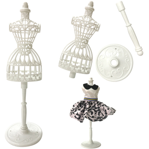 NK 2 Pcs/Set Doll Accessories Display Holder Dress Clothes Gown Mannequin Model Stand For Barbie Doll Girls Play DIY Toy DZ(China)