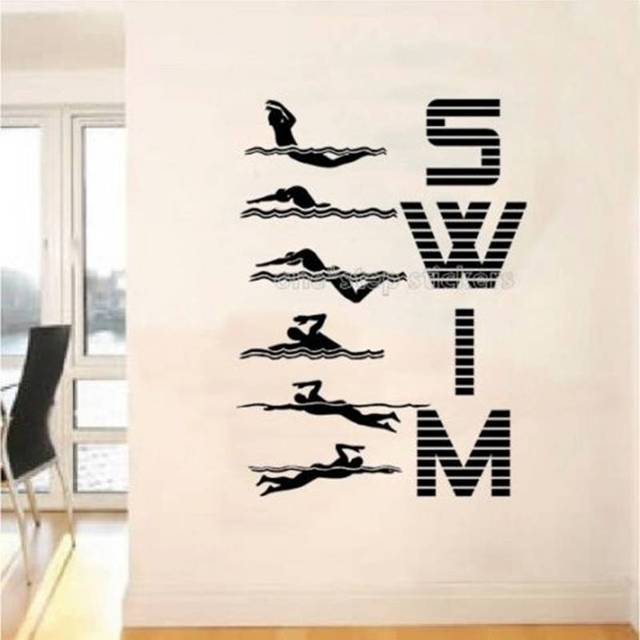 Aliexpresscom Buy Swim Sticker Swimmer Decal Swimming Posters - Vinyl stickers designaliexpresscombuy eyes new design vinyl wall stickers eye wall