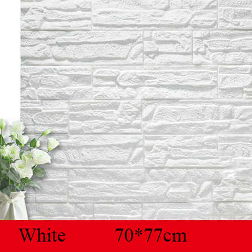 3D Brick PE Foam Wallpaper Panels Room Decal Stone Decoration Embossed collision foam soft children's room TV background wall