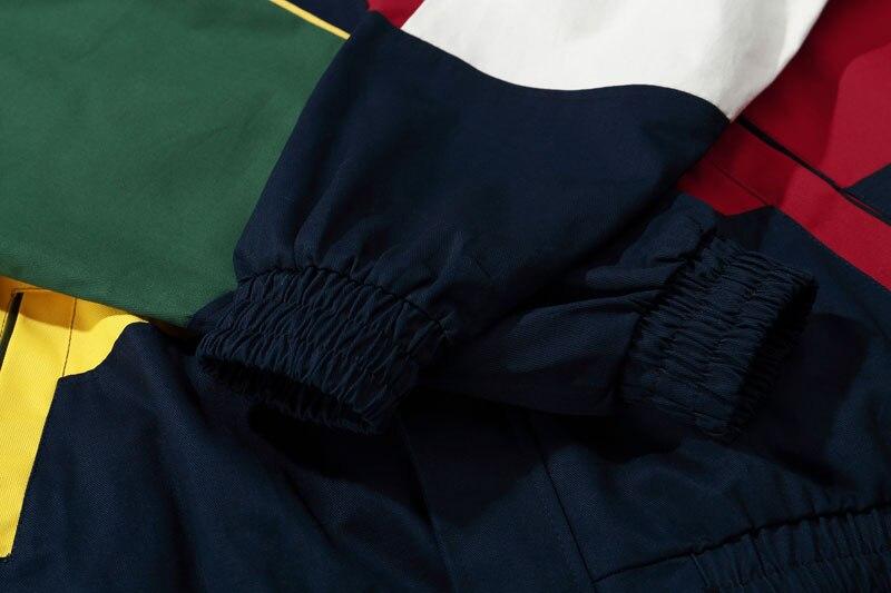 Vintage Color Block Patchwork Jackets 8