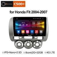 Ownice C500 + G10 ips Android 8,1 DVD мультимедиа плеер gps для honda Fit jazz 2004 2005 2006 2007 Радио стерео навигации