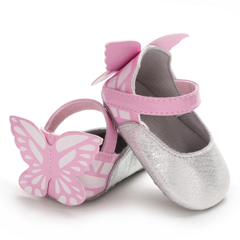 Cute Baby Girls Shoes Toddler Shoes Latest Bow Tie Baby Princess Shoes Dance Shoes Newborn Cute First Walkers 0-18M