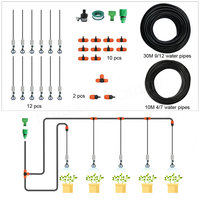 BORUiT 30m DIY Micro Irrigation System Garden Watering Kits Spray Sprinkler Irrigation for Agricultural Greenhouse Garden Plant