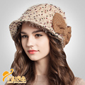 Lady new winter wool hat with dot  bow fluffy Hat Beret Hat for British and France lady  B-0708