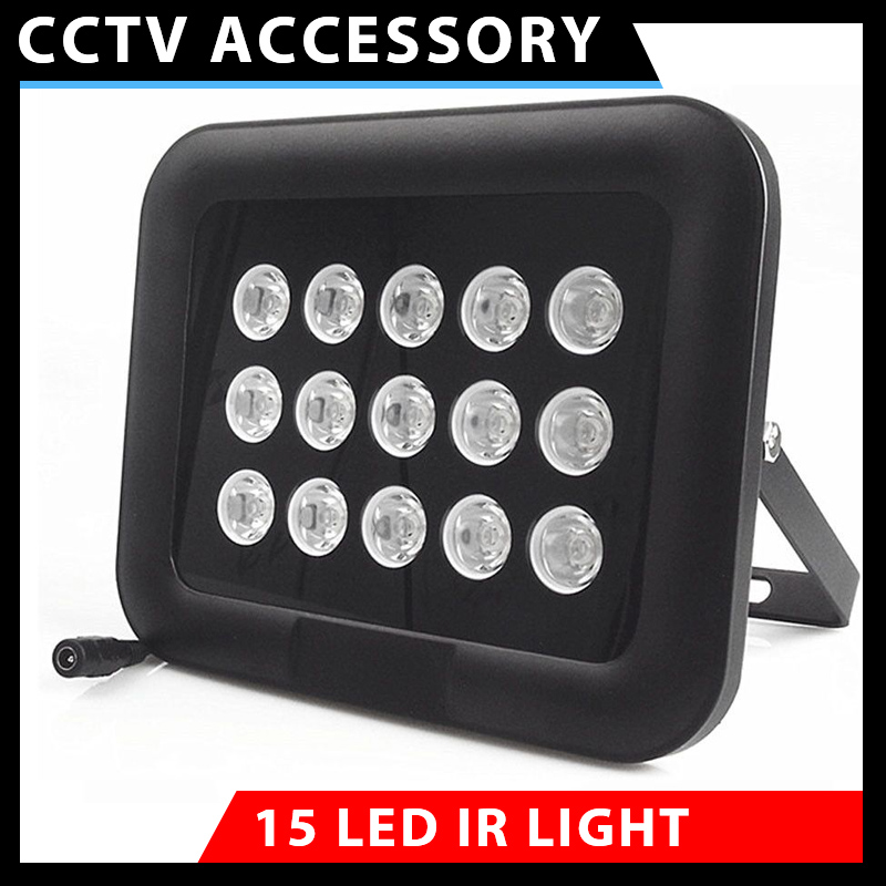 CCTV Fill Light 850nm Infrared illuminator 15 High Power IR Array LED Night Vision Security  For Camera  Waterproof DC12V/24V azishn cctv 12pcs array leds ir illuminator infrared outdoor waterproof night vision cctv fill light for cctv security camera