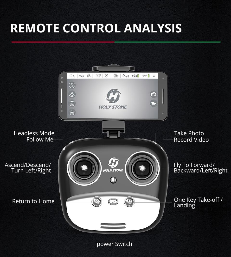 [EU USA JP Stock] Holy Stone HS100 GPS Selfie FPV Drone 500m Flight Range 2500mAh 1080P 7P Camera RC Quadcopter No Tax to EU 14