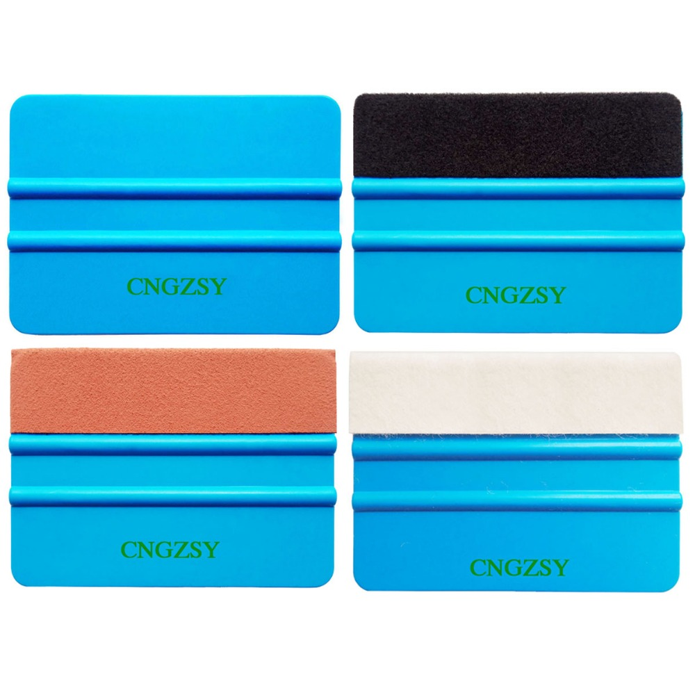 Glass Clean Felt Squeegee Car Sticker Wrapping Scraper With Cloth Pp Car Sticker Scraper Car Wrap Tools Felt Scarper Squeegee Sale Price Car Wash & Maintenance Sponges, Cloths & Brushes