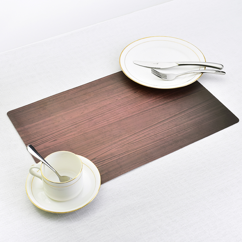 Dining Tables Place Mats Wood Grain Creative Personality Eat Tableware Utensil Restaurant Decor Catering Accessories